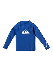 Quiksilver All Time Long Sleeve Boy Rashguard, Electric Royal