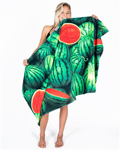 LEUS 100% Cotton Digital Print Beach Towel, Watermelon