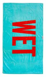 LEUS 100% Cotton Leus Print Beach Towel, Wet