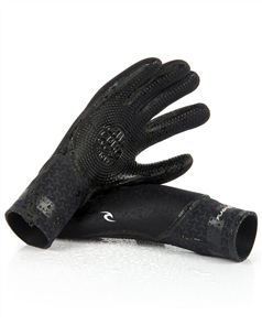Rip Curl Flashbomb 3/2mm 5 Finger Gloves, 0090 Black
