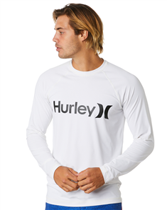 Hurley One And Only Surf Shirt Long Sleeve Rash Vest, 100 White