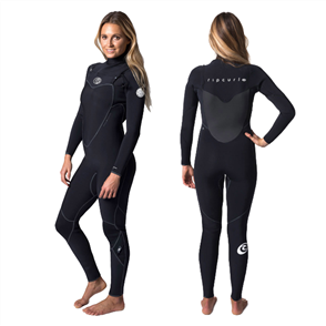 Rip Curl Womens Flashbomb 4/3mm Glued taped Chest Zip Steamer, 0090