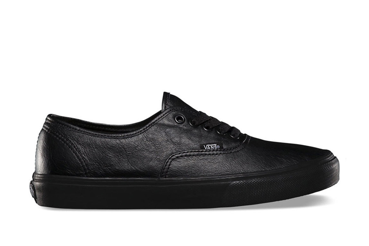 all black vans authentic on feet nz
