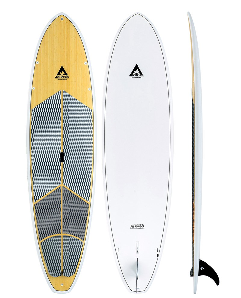 Surf Balance Board Nz: Adventure Paddle Allrounder X2 SUP, Bamboo White
