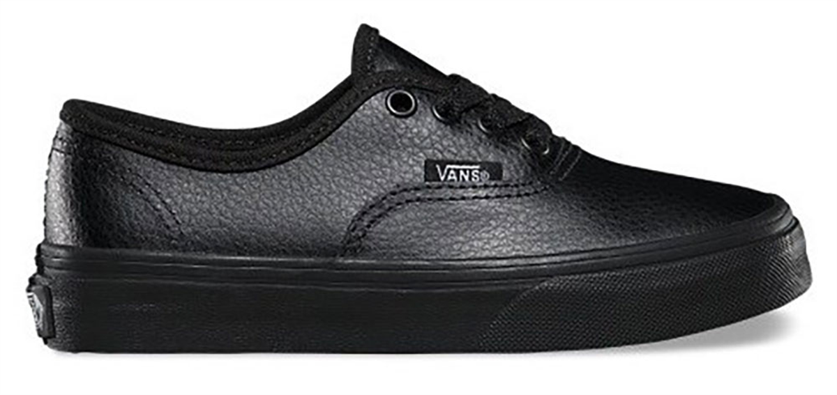 vans authentic leather all black nz